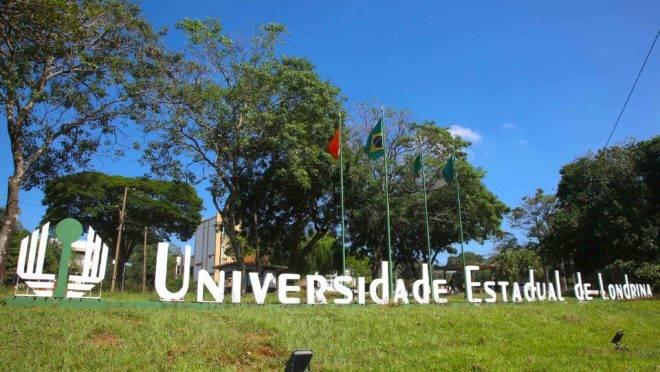 Fachada da UEL, em Londrina.