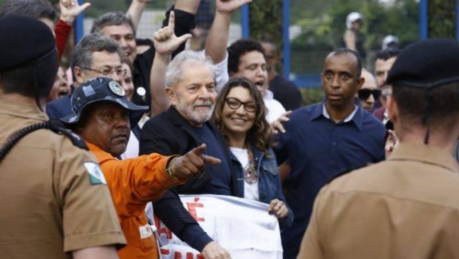 discurso de Lula na saída da prisão,