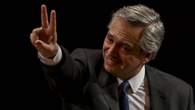 O presidente eleito da Argentina, Alberto Fernández