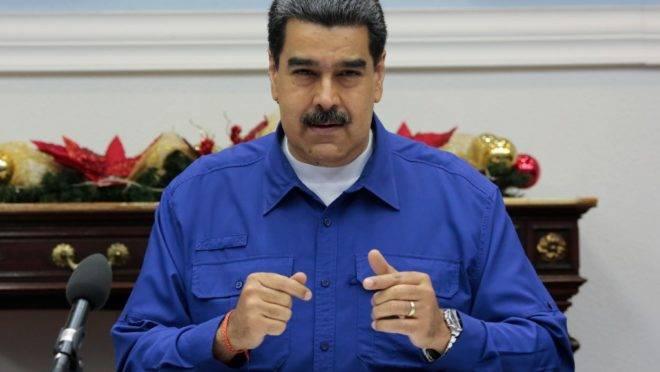 O ditador da Venezuela, Nicolás Maduro, no Palácio de Miraflores, Caracas, 8 de novembro de 2019