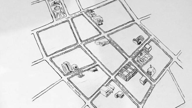 Croqui, anexo ao projeto de lei, mostra limites da área correspondente ao Petit Batel