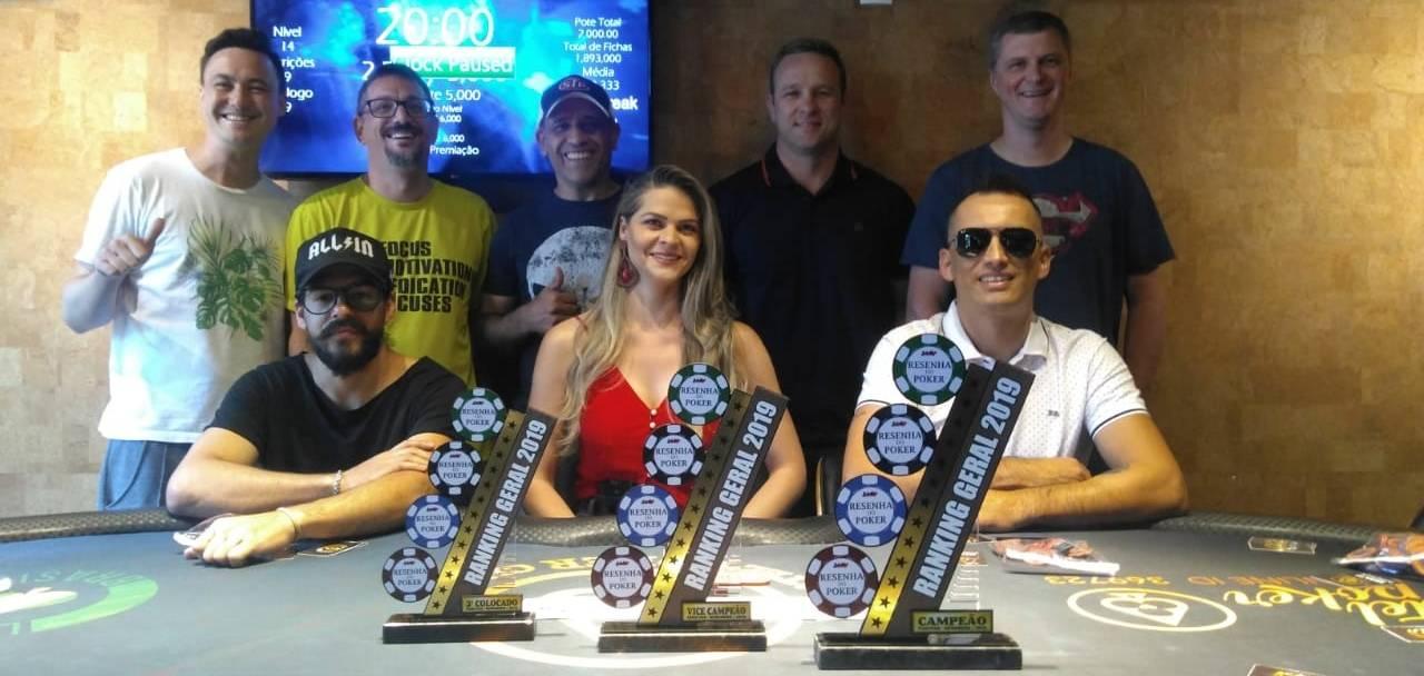 Mesa final do ranking do Circuito Resenha do Poker 2019