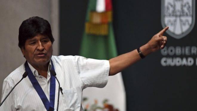 O ex-presidente da Bolívia Evo Morales discursa na prefeitura de Cidade do México, 13 de novembro de 2019