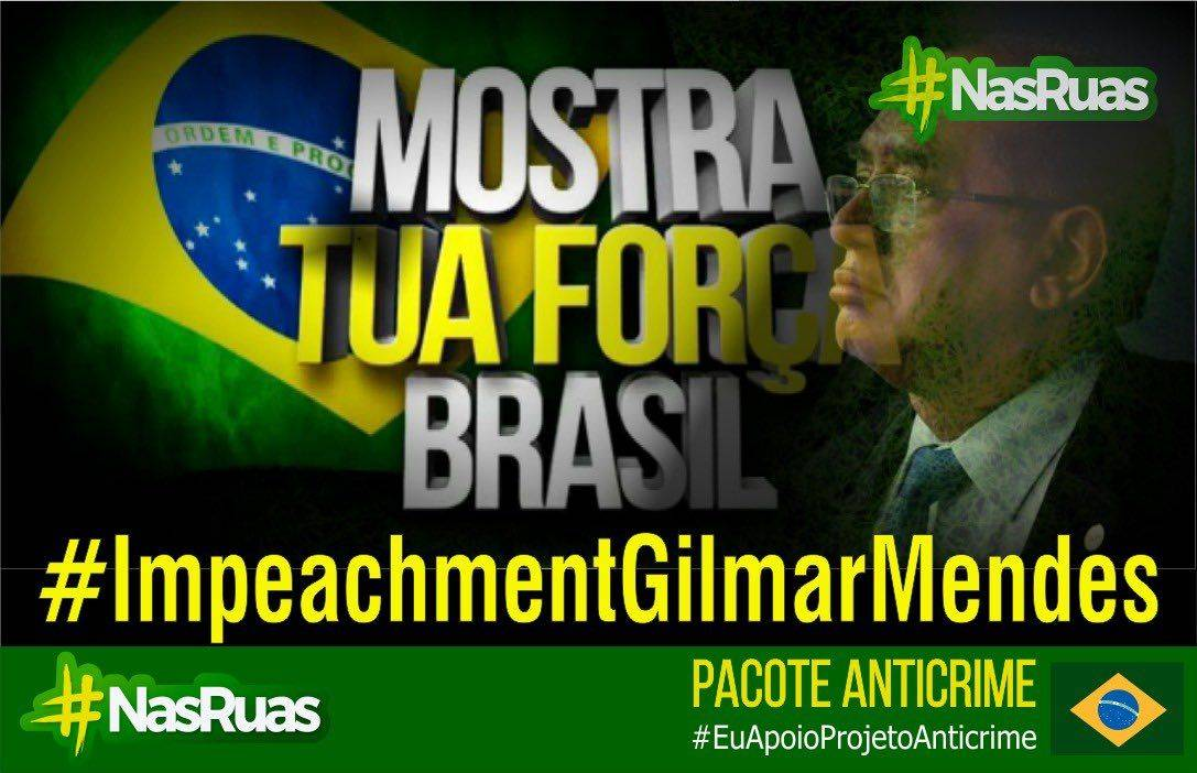 """Convocação do movimento """"Nas Ruas"""" por meio das redes sociais defende Pacote Anticrime, do ministro Sergio Moro."""