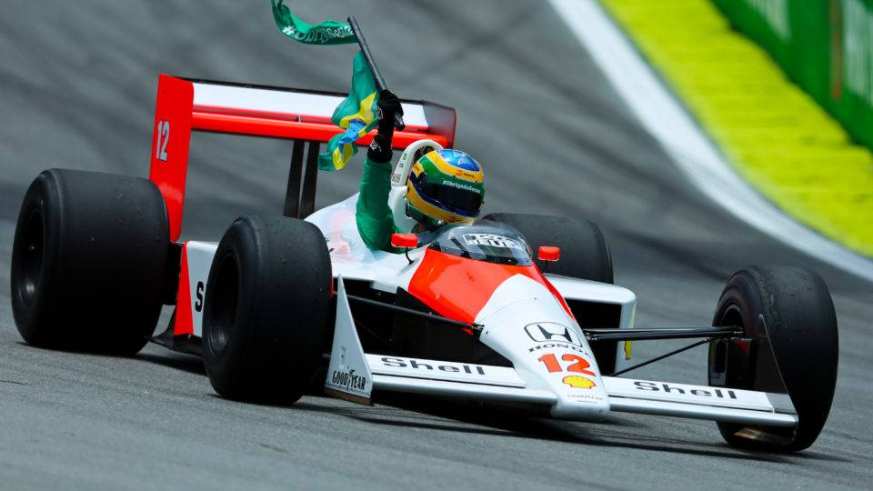 O dia em que Bruno pilotou a McLaren do tio Ayrton Senna e fez Interlagos vibrar e chorar