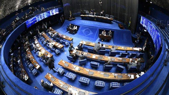 O plenário do Senado Federal.