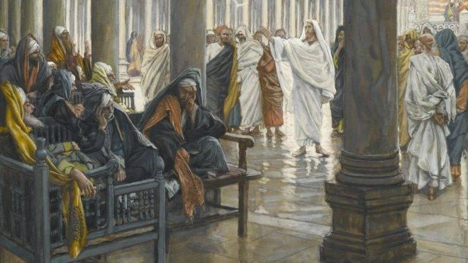 """""""Ai de vós, escribas e fariseus"""", de James Tissot."""