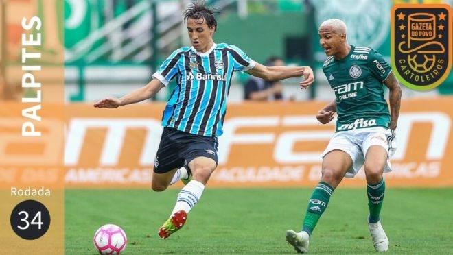 Veja os palpites para os jogos da 34ª rodada do Brasileirão