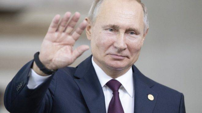 O presidente da Rússia, Vladimir Putin, antes da cúpula dos Bricas no Itamaraty, Brasília, 14 de novembro de 2019