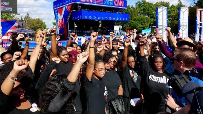 Protesto do grupo Black Lives Matter, em 2016.