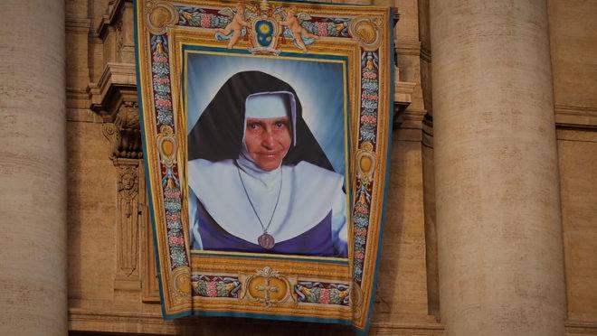 Cerimônia de canonização da Irmã Dulce, no Vaticano, em 13 de outubro.