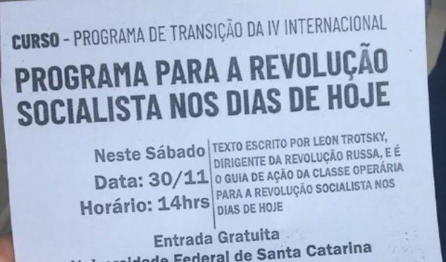 Partido da Causa Operária vai realizar curso pela revolução socialista na UFSC