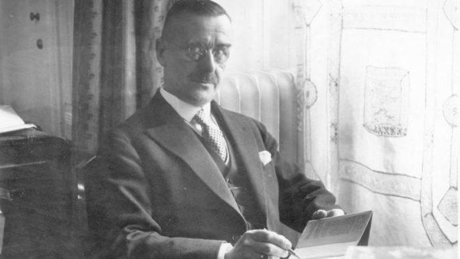 O escritor Thomas Mann