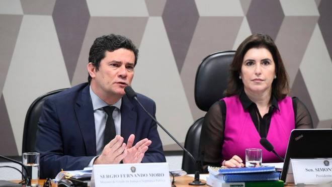 Sergio Moro defende na CCJ do Senado a prisão após condenação em 2ª instância.