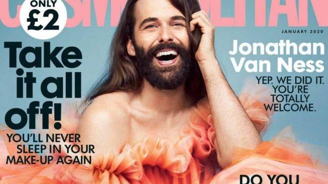Jonathan van Ness na capa da Cosmopolitan: questão séria tratada de maneira fútil