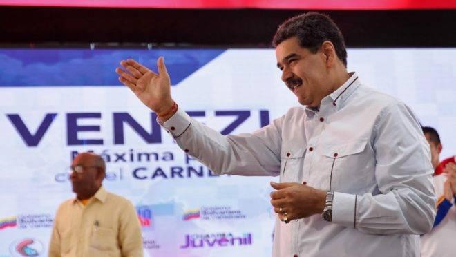 O ditador da Venezuela, Nicolás Maduro, em Caracas, 3 de dezembro de 2019