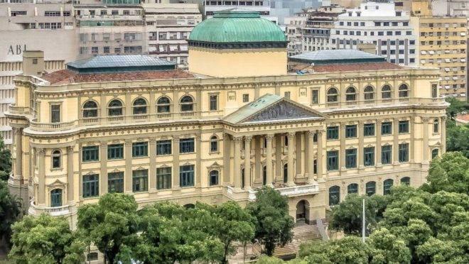 Fachada da Biblioteca Nacional