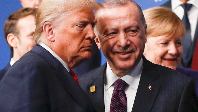 Trump e Erdogan na Otan