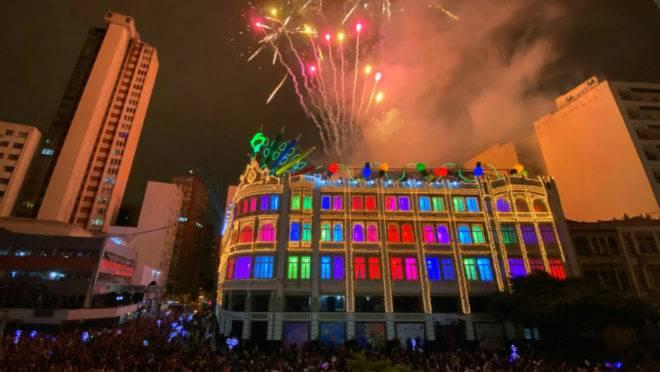 Estreia do Natal do Palácio Avenida reuniu 16 mil pessoas