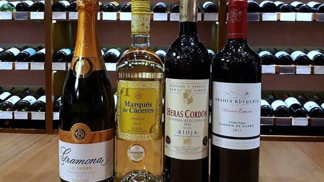 Os vinhos da Grand Cru, que vão harmonizar com os pratos do jantar da próxima quarta-feira, no Ristorante Terra Madre.