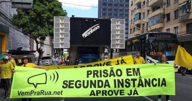 Movimento Vem Pra Rua faz manifestação pela prisão em segunda instância em Belém (PA)