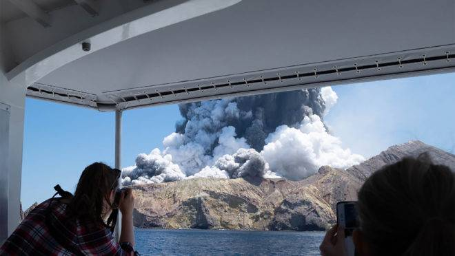 Erupção do vulcão na Nova Zelândia