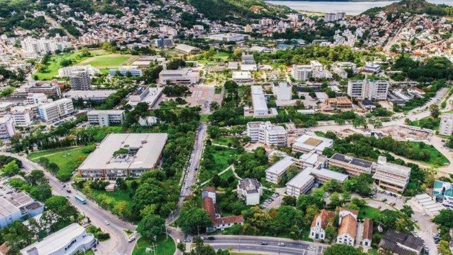 Foto da Universidade Federal de Santa Catarina (UFSC), campus Florianópolis