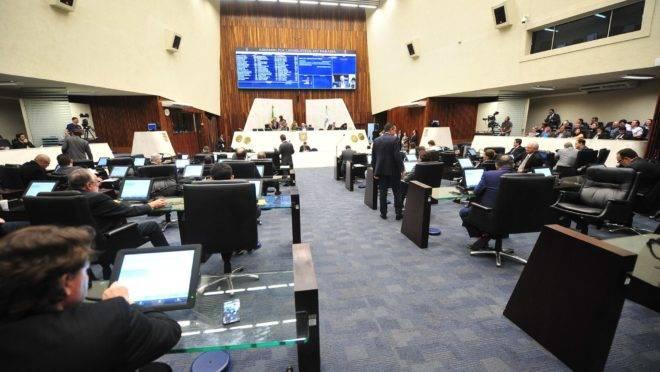 Sessão plenária da Assembleia Legislativa do Paraná.
