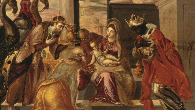 """""""Adoración de los Reyes Magos"""", de El Greco."""