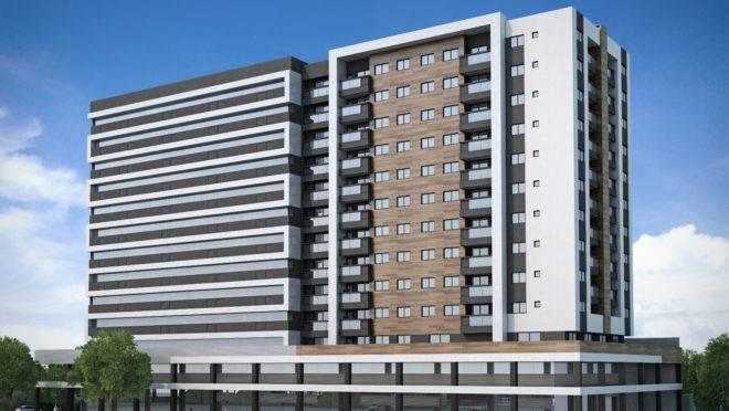 Piemonte Versatile oferece unidades residenciais e salas comerciais no Pinheirinho. | Divulgação