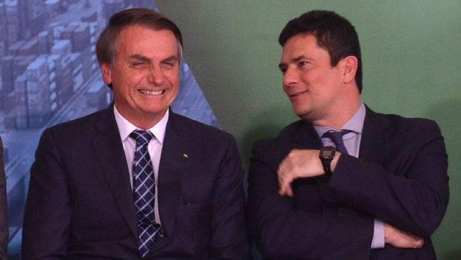 Jair Bolsonaro e Sergio Moro