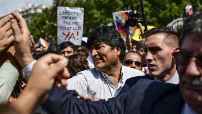 O ex-presidente da Bolívia Evo Morales participa de reunião das Madres de Plaza de Mayo em Buenos Aires, 26 de dezembro de 2019