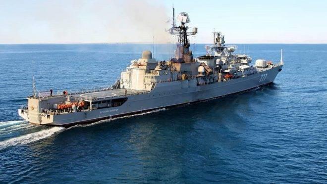 "A fragata da Marinha Russa ""Yaroslav Mudry"""