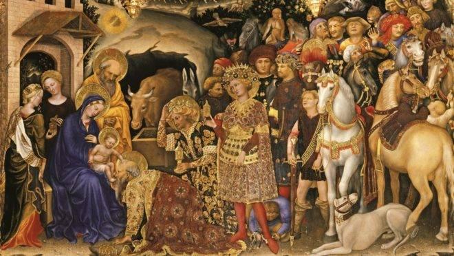 """""""A adoração dos magos"""", de Gentile da Fabriano."""