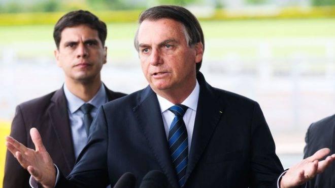 O presidente Jair Bolsonaro  voltou a se defender pela possível sanção ao fundo eleitoral de 2020. Foto: Antonio Cruz/ Agência Brasil