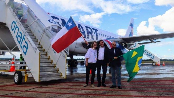 Voo inaugural JetSmart Foz do Iguaçu Santiago