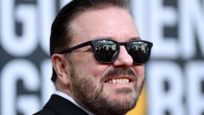 O comediante britânico Ricky Gervais