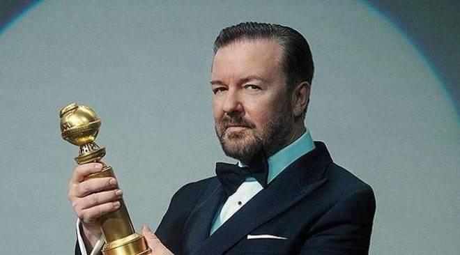 O humorista Ricky Gervais.