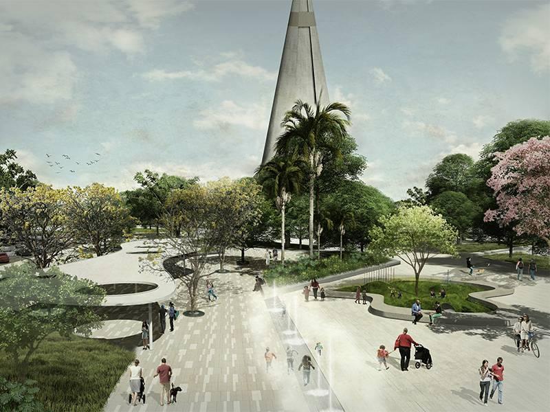 Intervenção urbana começará no entorno da catedral de Maringá, um dos ícones da cidade paranaense