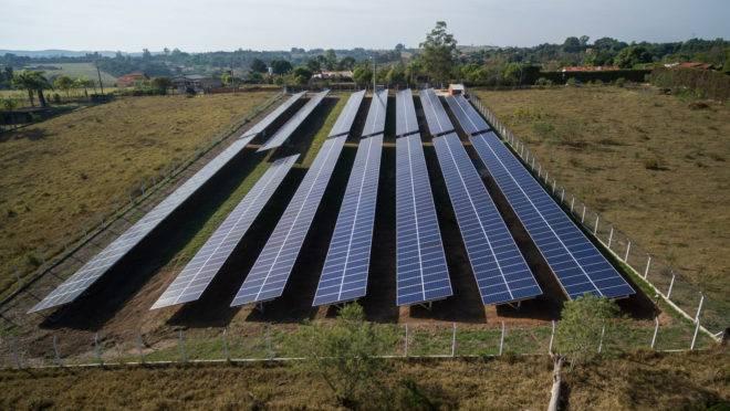A fazenda solar da Sun Mobi, em São Paulo.