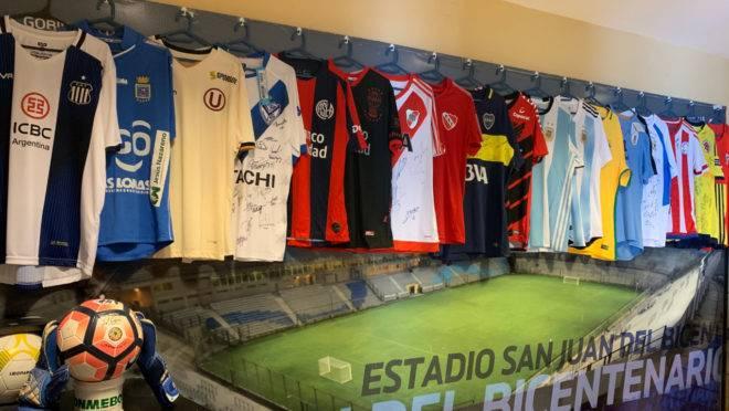Pequeno museu no Estádio Bicentenario em San Juan, Argentina