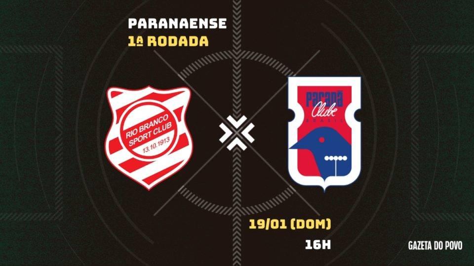 Paraná estreia no Estadual contra o Rio Branco em Paranaguá. Saiba tudo do jogo