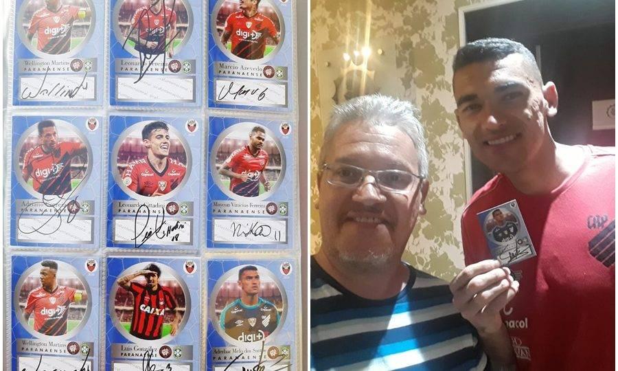 Argentino cria figurinhas de jogadores do Athletico e consegue que elas sejam autografadas