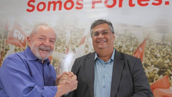 Encontro entre Lula e Flávio Dino.