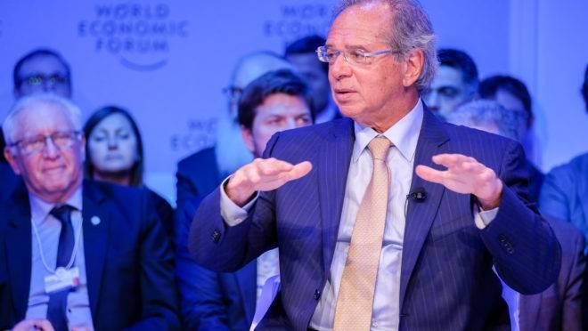Paulo Guedes representou o governo brasileiro no Fórum Econômico Mundial, em Davos