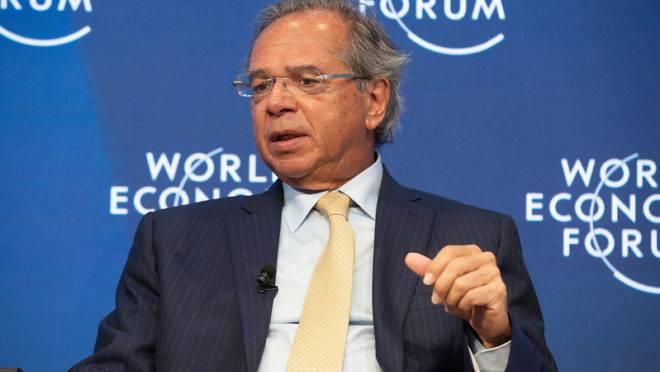 O ministro da Economia, Paulo Guedes, no Fórum Econômico Mundial.