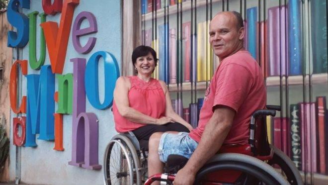 A telefonista Sônia Maria Soranzo, de 60 anos, e o aposentado Jeferson Andrade, de 55, são os criadores do Projeto Suave Caminho.