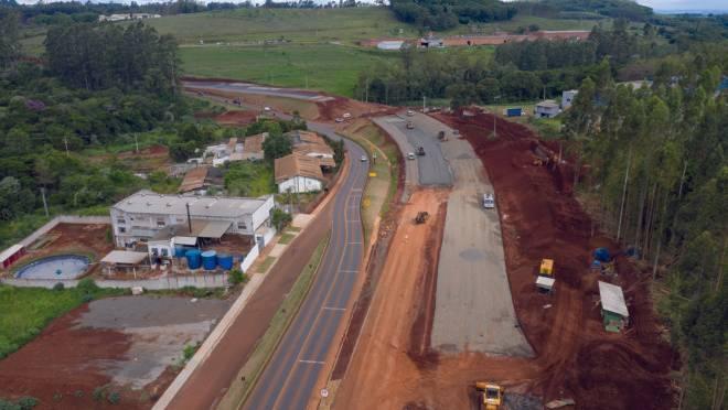Duplicação da rodovia no Contorno Sul em Apucarana.