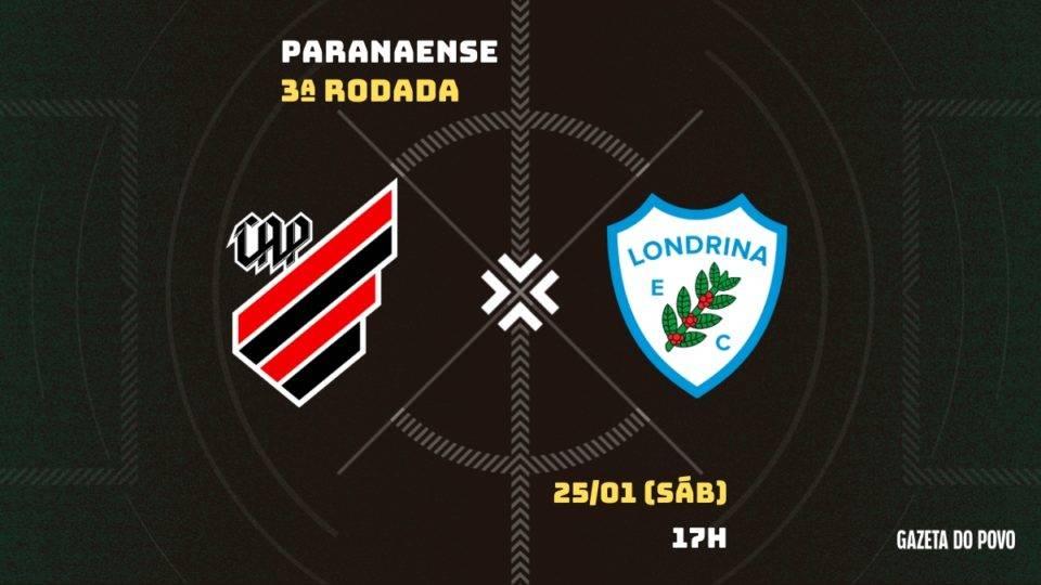 Com novidade no ataque, Athletico busca manter a liderança contra o Londrina. Tudo do jogo!