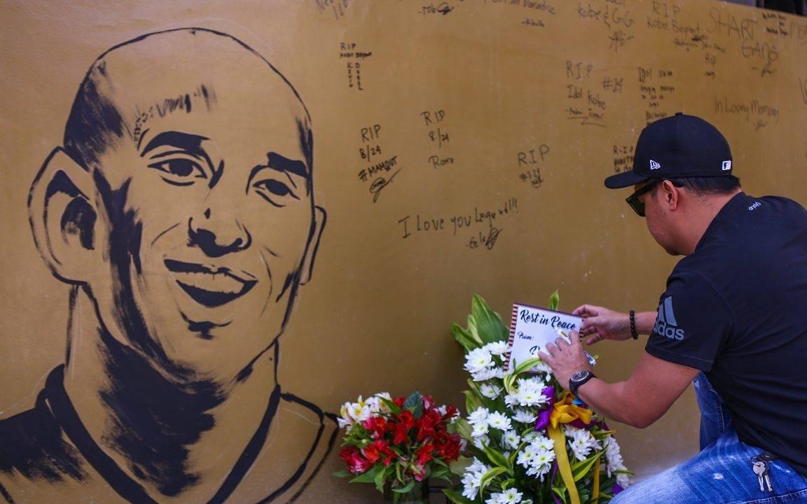 Homenagens em Los Angeles a Kobe Bryant.